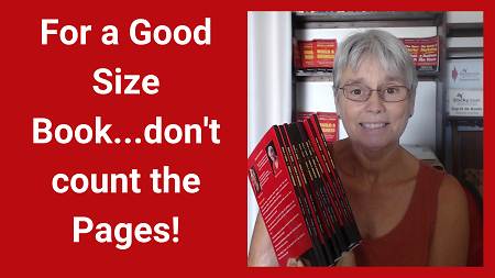 For a good size book don't count the pages
