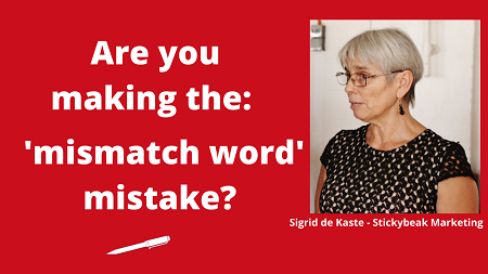 Are you making the mismatch word mistake