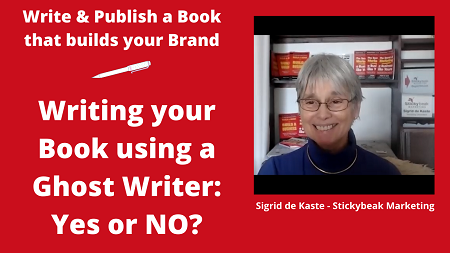 Should you use a Ghost Writer, Yes or No